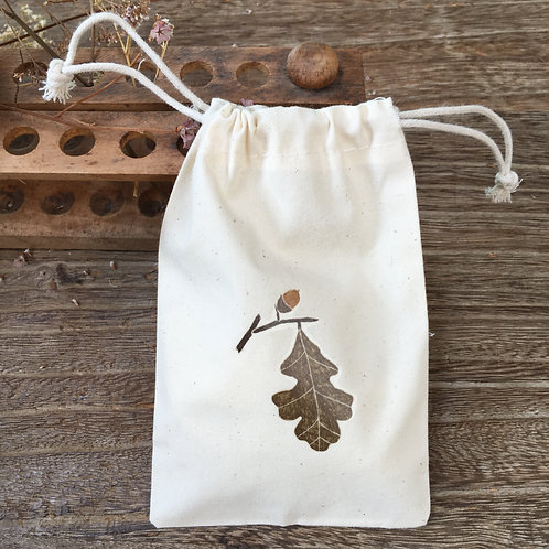 Lovely Envelopes  — Pochon coton feuille de chêne