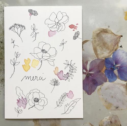 Papillon Papillonnage — Carte merci