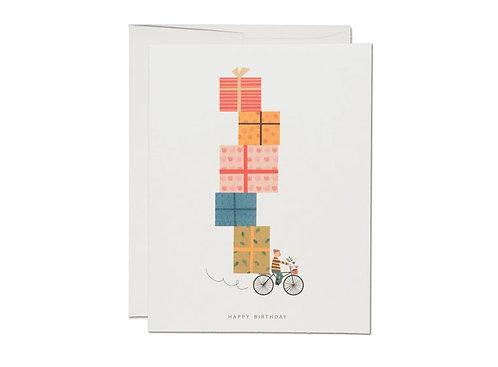 Red Cap Cards — Carte Vélo d'anniversaire