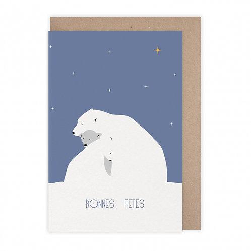 Monsieur Papier — Carte Fêtes polaires