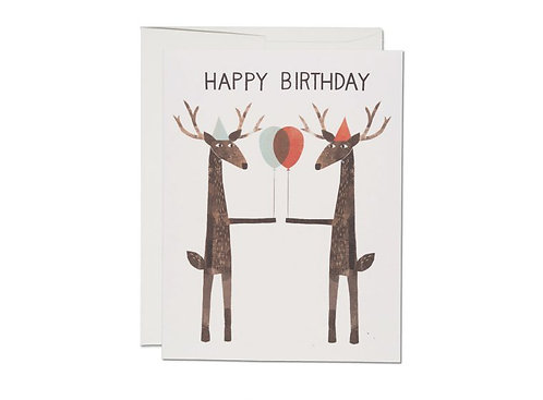 Red Cap Cards — Carte Party Deer