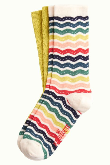 King Louie — Chaussettes (2 paires) Sassy Cream
