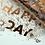 Thumbnail: Les Éditions du Paon — Cahier dos carré Happy day Vert