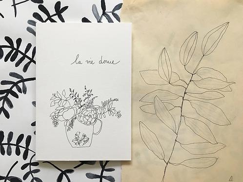 Papillon Papillonnage — Carte La vie douce