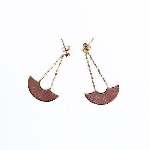 Omacoo — Boucles d'oreilles Éventail