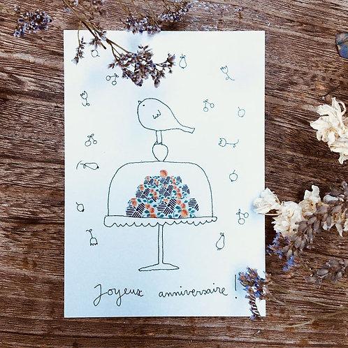 Papillon Papillonnage — Carte Joyeux anniversaire !