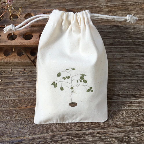 Lovely Envelopes  — Pochon coton plante en pot