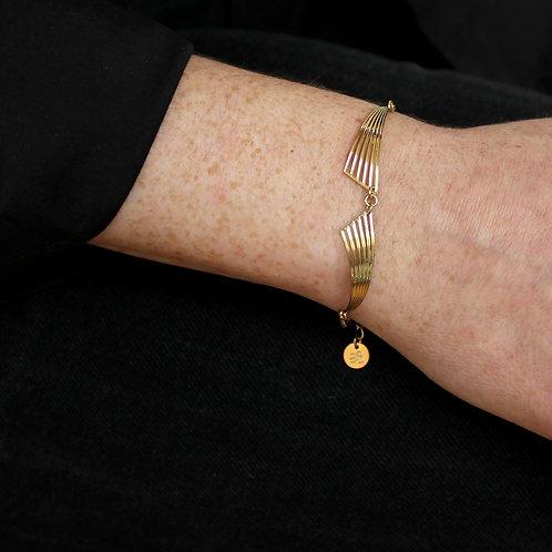 Amélie Blaise — Bracelet Garçonne doré