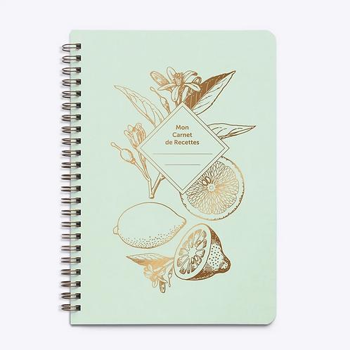 Les Éditions du Paon — Carnet de Recettes Lemonade vert d'eau
