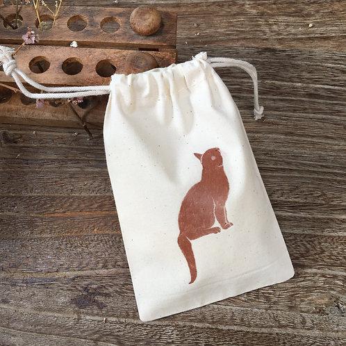 Lovely Envelopes  — Pochon coton Chat roux
