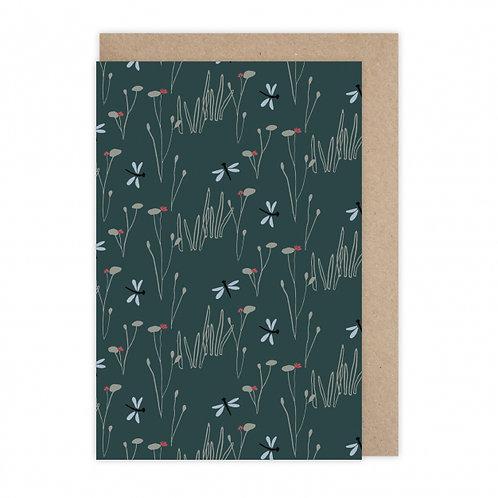 Monsieur Papier — Carte Libellules