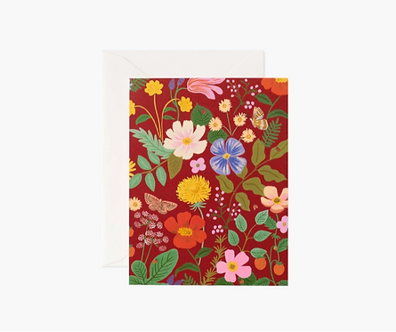 Rifle Paper co. — Carte Fields Red