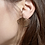 Thumbnail: Exquises Indécises — Boucles d'oreilles Plissées
