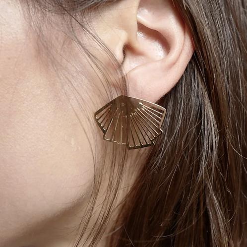 Exquises Indécises — Boucles d'oreilles Plissées