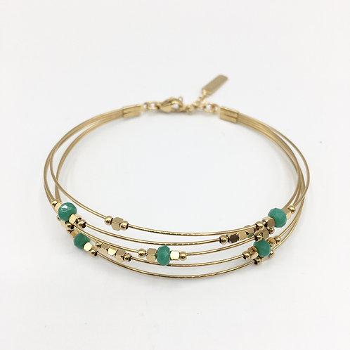 Omacoo — Bracelet jonc multirangs perles