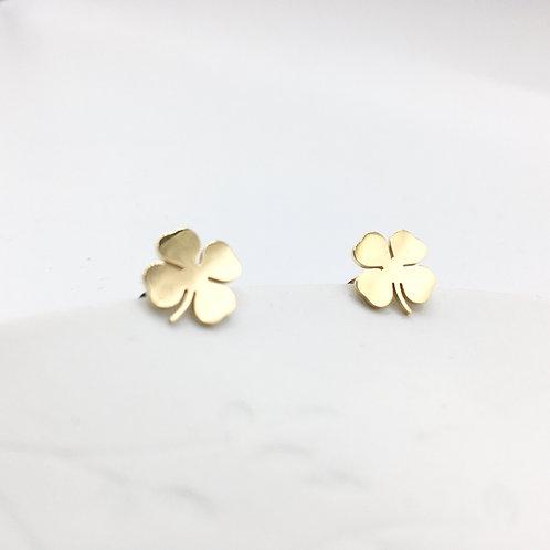 Omacoo — Boucles d'oreilles Trèfle à 4 feuilles