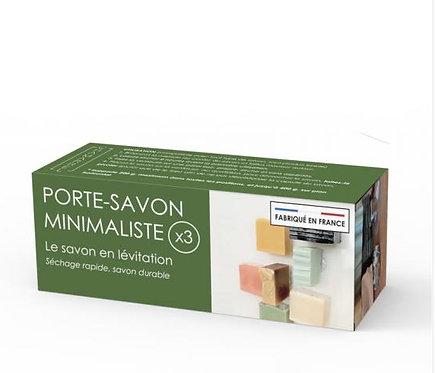 Chamarrel — Boite de 3 Porte-savons minimalistes aimantés