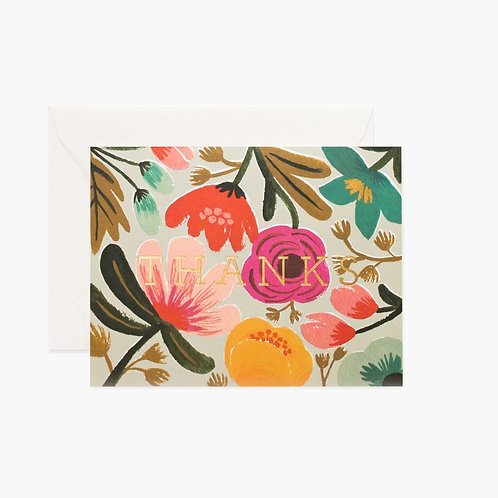 Rifle Paper co. — Carte Gold Floral Thanks