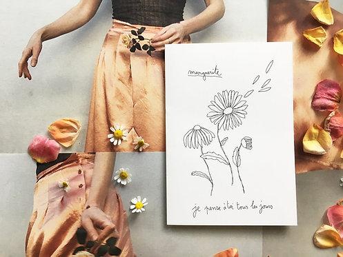 Papillon Papillonnage — Carte Marguerite