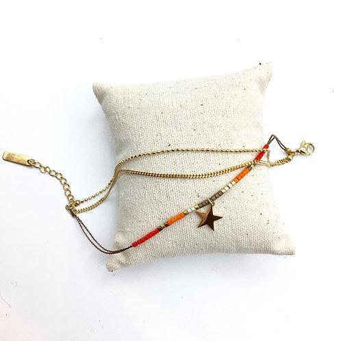 Omacoo — Bracelet 3 rangs perles étoile