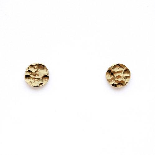 Stalactite — Boucles d'oreilles mini puces martelées
