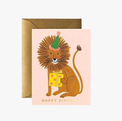 Rifle Paper co. — Carte Birthday Lion