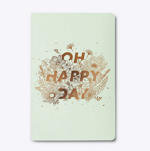 Les Éditions du Paon — Cahier dos carré Happy day Vert