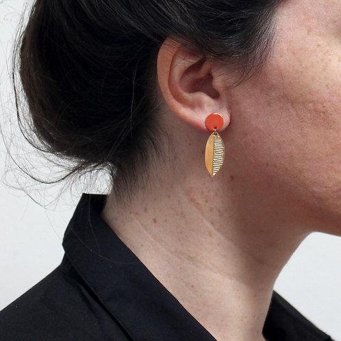 Titlee — Boucles d'oreilles Leaf