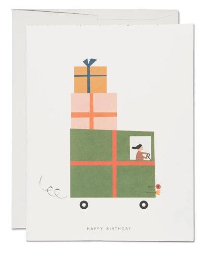 Red Cap Cards — Carte Camion d'anniversaire