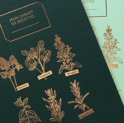 Les Éditions du Paon — Carnet de Recettes Mes Aromates sapin
