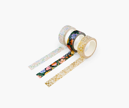 Rifle Paper co. — Set de 3 masking tapes Strawberry Fields