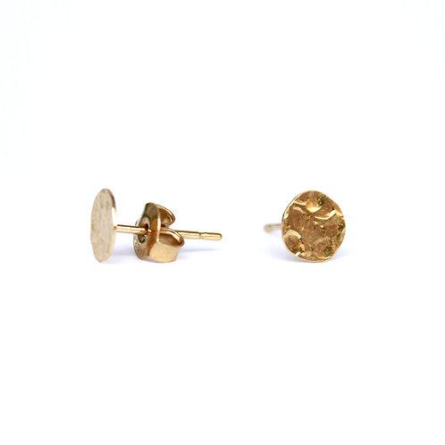 Stalactite — Boucles d'oreilles puces martelées