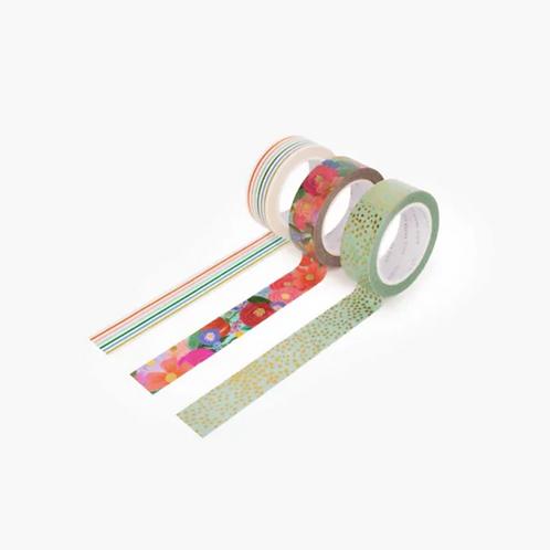 Rifle Paper co. — Set de 3 masking tapes Garden Party