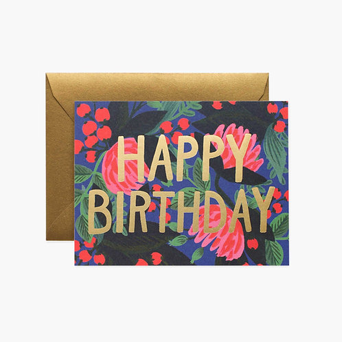 Rifle Paper co. — Carte Floral Foil Birthday
