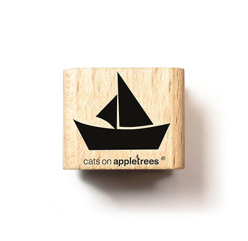 Cats on appletrees — Tampon bateau