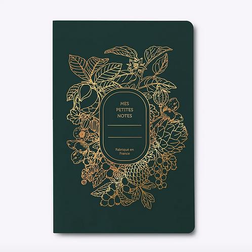 Les Éditions du Paon — Cahier dos carré Abondance vert sapin