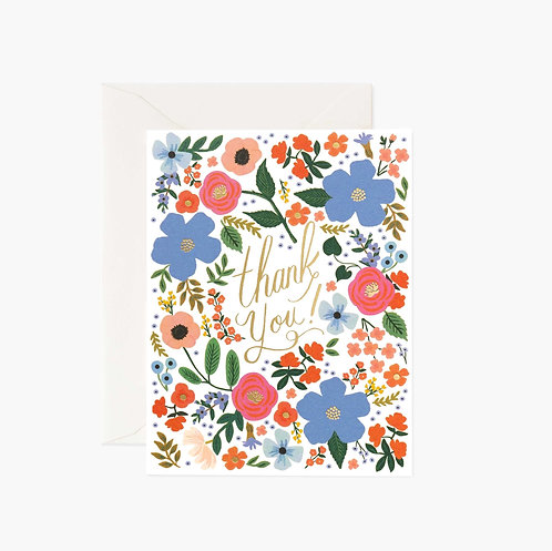 Rifle Paper co. — Carte Wild Rose Thank You