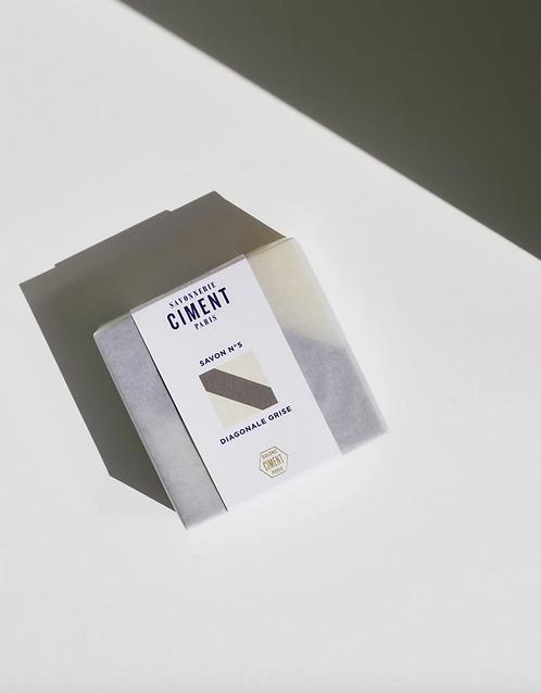 Ciment Paris — Savon Surgras Diagonale grise Citron Fumé