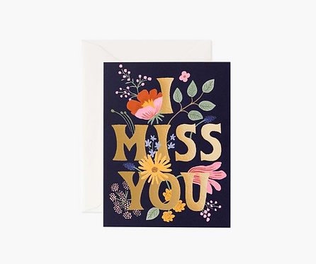 Rifle Paper co. — Carte I Miss You