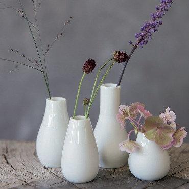 Räder — Set de 4 mini vases blancs