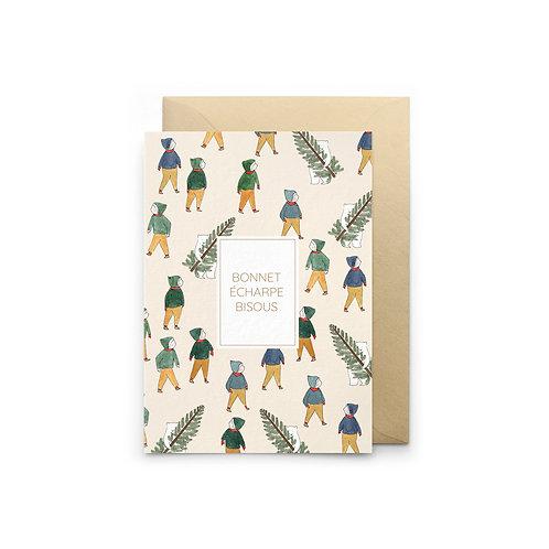 Petit Gramme — Carte Écharpe Bonnet Bisou