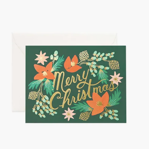 Rifle Paper co. — Carte Merry Christmas Wintergreen