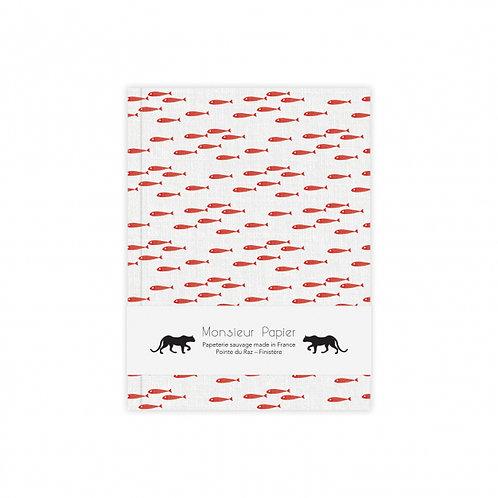 Monsieur Papier — Carnet Poissons rouges