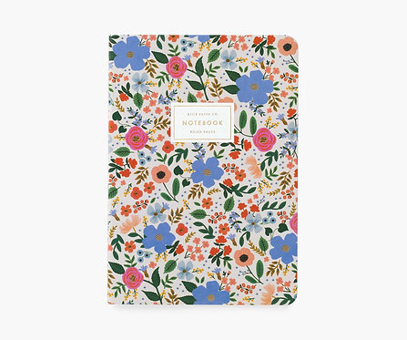 Rifle Paper co. — Cahier Wild Rose blanc