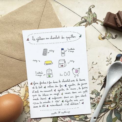 Papillon Papillonnage — Carte Gâteau au chocolat