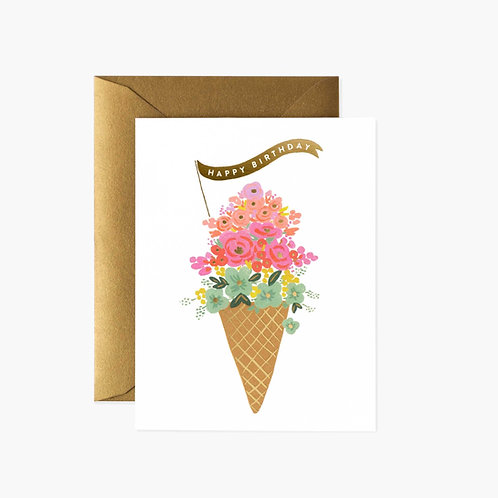 Rifle Paper co. — Carte Ice Cream Birthday