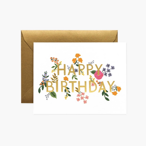 Rifle Paper co. — Carte Wildwood Birthday
