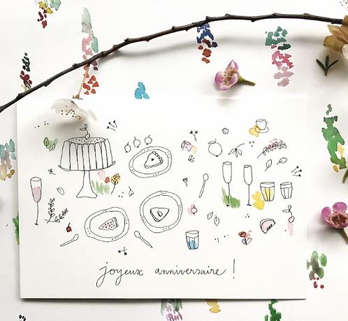 Papillon Papillonnage — Carte Fête d'anniversaire