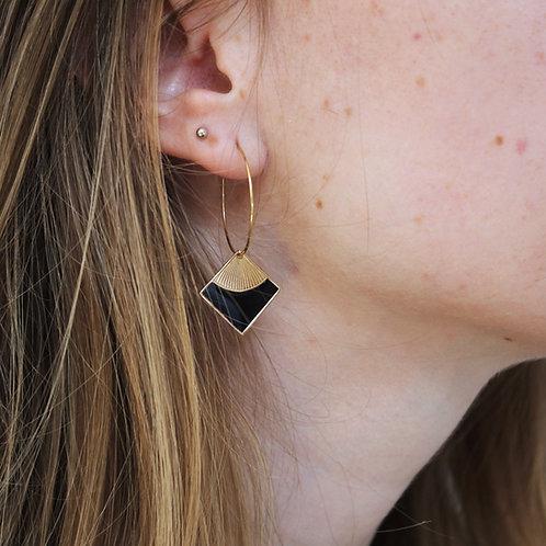 Omacoo — Boucles d'oreilles Losange