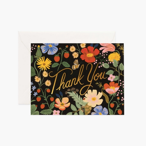 Rifle Paper co. — Carte Strawberry fields Thank You